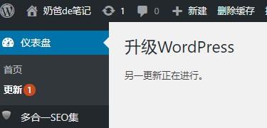 WordPress另一更新正在进行