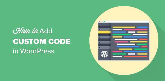 自定义WordPress代码