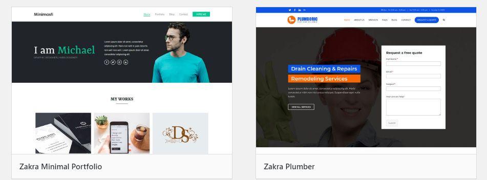 Zakra Page Builder Theme风格演示