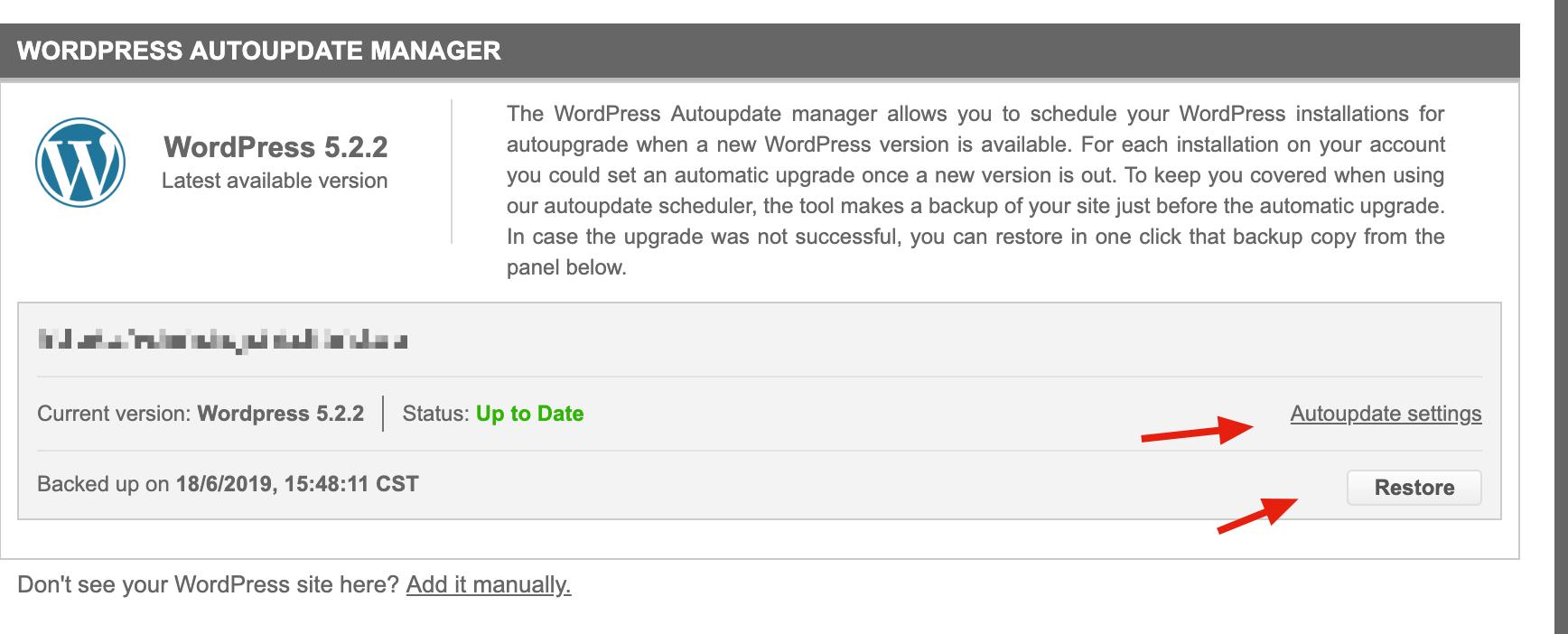 WP自动更新恢复