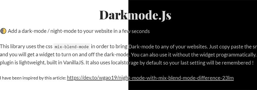 网站添加夜间模式