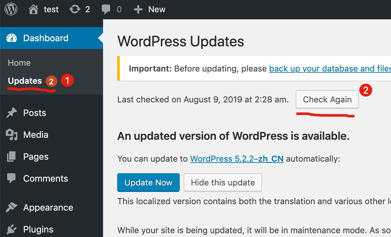 wordpress英文版切换中文版